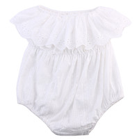 One-piece Newborn Baby Girl Kids Clothes Hollow out lace Off-shoulder Romper Jumpsuit
