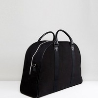 ASOS Structured Carryall In Black Canvas at asos.com