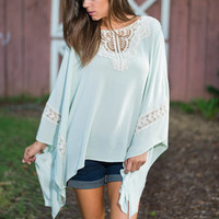 All That I Adore Blouse, Mint