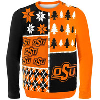 Oklahoma State Cowboys Busy Block Ugly Sweater – Orange