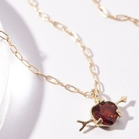 Free People 10k Cupids Heart Necklace