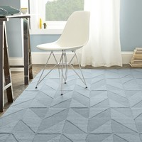 Andes Wool Rug – Dusty Blue