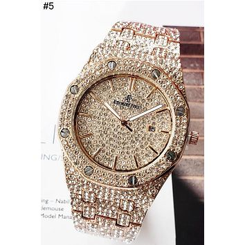 Audemars Piguet Tide brand full diamond men and women models high-end wild quartz watch #5
