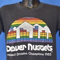80s Denver Nuggets 1985 Division Champs Distressed t-shirt Medium