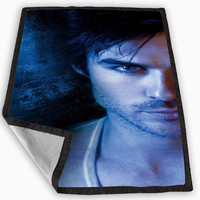 Damon Salvatore The Vampire Diaries Blanket for Kids Blanket, Fleece Blanket Cute and Awesome Blanket for your bedding, Blanket fleece *