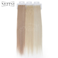 """Neitsi Remy Tape In Human Hair Straight Weave Skin Weft Hair Extensions 2.0g/strand 20"""" 100% Indian Virgin Remy Hair 12 Colors"""