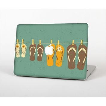 "The Vintage Hanging Flip-Flops Skin Set for the Apple MacBook Pro 13"" with Retina Display"