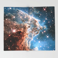 Nebula Throw Blanket, Outer Space Decor, Home Decor, Monkey Head Nebula