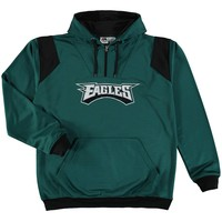 Men's Philadelphia Eagles Majestic Midnight Green Big & Tall Quarter-Zip Pullover Hoodie