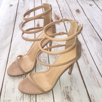 Strappy Heel in Nude