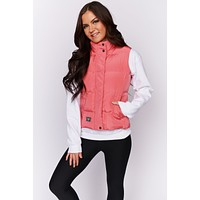 Let's Go Outside Puffer Vest (Pink)