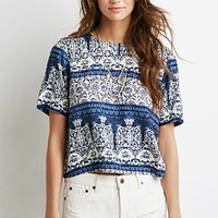 Baroque Buttoned-Back Tee