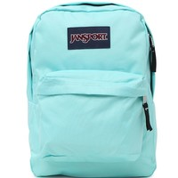 JanSport Superbreak Aqua Dash School Backpack - Womens Backpack - Green - One