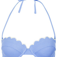 Cornflower Scallop Bikini Top - Swimwear - Clothing - Topshop USA