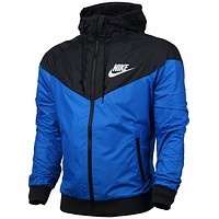 Nike spring and autumn jacket men's coat sports coat casual trench coat Blue