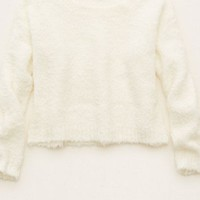 Aerie Women's Softest Crop Bonfire Sweater (Soft Muslin)