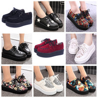 Creepers Shoes Woman  platform Women Flats Shoes