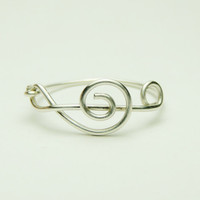 Treble Clef Ring - Music Note wire ring - sterling silver wire 925