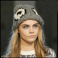 Eye Pattern Unisex Knit Hat