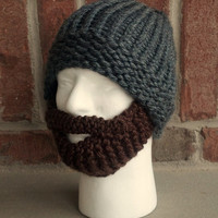 ORDER BY FEB 7 for valentines day beard hat bearded knit snowboard ski valentine gift for men him husband boyfriend motorcycle works outside