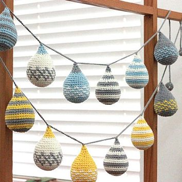 Nordic Style Crocheted Party Shower Nursery Decoration