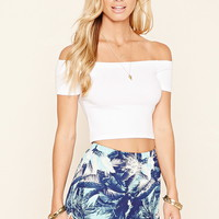 Tropical Print Dolphin Shorts
