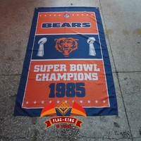 Chicago Bears NFL flag,polyester 90*150CM banner