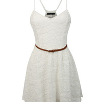 LE3NO Womens Lightweight Summer Spring Skater Dress