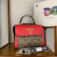 Prada Women's Tote Bag Handbag Shopping Leather Tote Crossbody Satchel 0323
