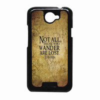not all those who wander are lost tolkien 57451f68-a527-4ed9-b713-98fcc187f1a6 FOR HTC One X CASE *RA*