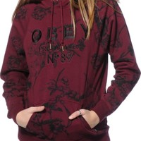 Obey Archie Embroidered Floral Hoodie