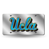 UCLA Bruins NCAA Laser Cut License Plate Cover Silver