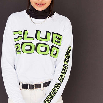 Silence + Noise Club 2000 Long-Sleeve Tee - Urban Outfitters