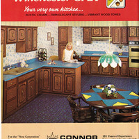 1973 ad Kitchen Cabinets of Winchester Oak by by ArcaniumAntiques