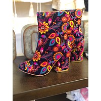 Naughty Monkey Floral Booties