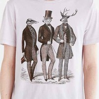 Gentlemen Of The Woods Tee- Silver
