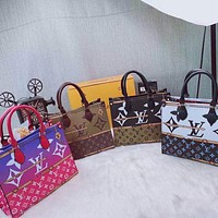 Louis Vuitton LV new fashion presbyopia color matching letters ladies shopping handbag shoulder bag
