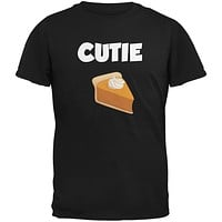 Thanksgiving Cutie Pie Black Adult T-Shirt