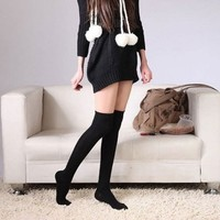 amtonseeshop Hot Sale Brand New Warm Sexy Cotton Over the Knee Socks Thigh High Stocking Thinner