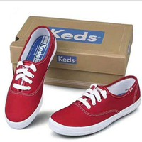 One-nice™ keds canvas Lace-Up Sneakers red H-G-JGYF