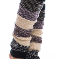 Colorblock Leg Warmer, Black