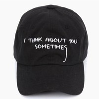 FREE SHIPPING CASQUETTE GIANNI MORA SUMMER NOTE SNAPBACK POLO CAP IAN CONNOR I THINK ABOUT YOU SOMETIMES LETTER BASEBALL CAP