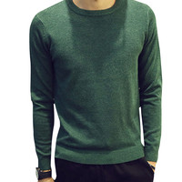 Round Neck Pullover Knit Sweater