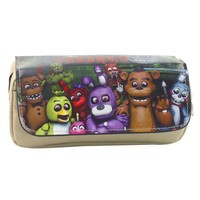 Cartoon  at Freddy Pen Bags Harem Game Animation Multifunctional Double Zipper Pencil Pouch Purse Stationery Bag Gift