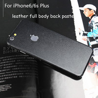 BEST leather Skins Protective Film Wrap Skin Cellphone back paste Protective Film Sticker For iphone 6 6s 6plus 6splus