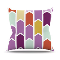 "Pellerina Design ""Orchid Geometric Chevron"" Purple Arrows Outdoor Throw Pillow"