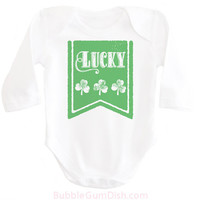 Lucky Irish Shirt Shamrock Shirt Baby Outfit First St. Patrick's Day Ireland Clover OnePiece Infant 1st St Patricks Bodysuit Toddler