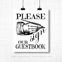 INSTANT DOWNLOAD - Vintage Inspired Guestbook Sign / Printable That is Perfect for a Special Event (Weddings / Graduations / Parties)