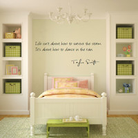 Taylor Swift Dancing in the Rain Wall Decal -- Free Shipping in USA