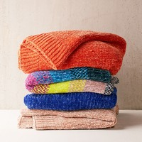 Chenille Knit Sweater Throw Blanket   Urban Outfitters